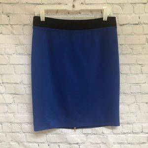 Trina Turk Blue Straight Skirt With Back Zipper